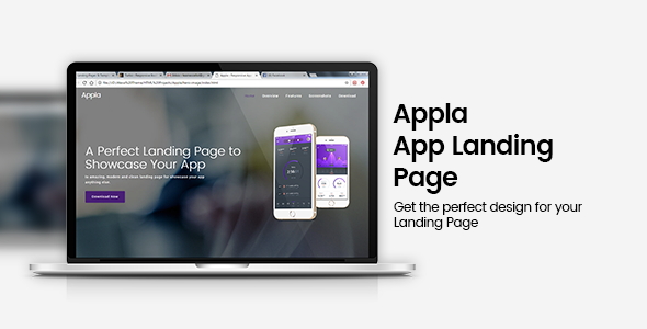 Appla Responsive App Landing Page - Apps Technology