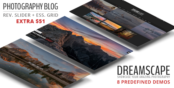 Dreamscape – Photography WordPress Blog Theme