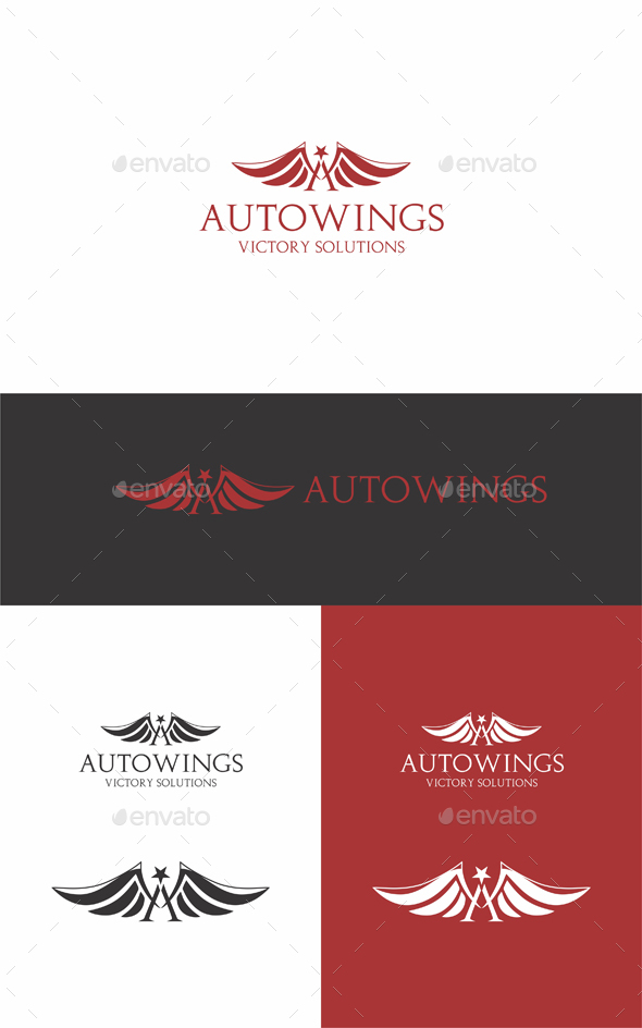 Auto Wings - Letters Logo Templates
