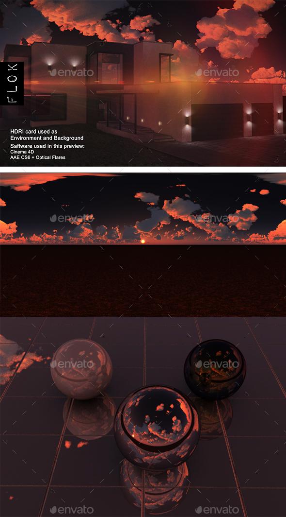 Sunset Desert 87 - 3DOcean Item for Sale