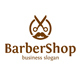 Barber Man Logo - Barber Shop / Scissors