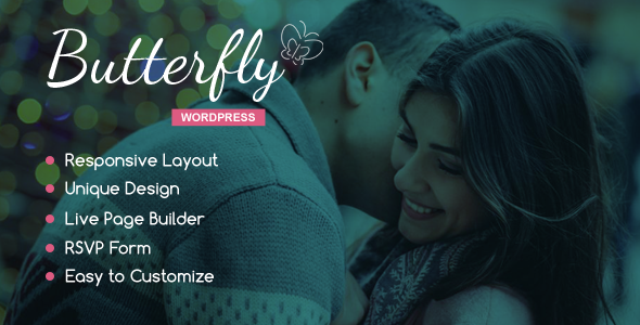 Butterfly – A Wedding WordPress Theme
