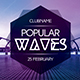 Popular Waves Flyer - GraphicRiver Item for Sale