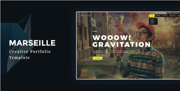 Marseille – Creative Photography HTML Template