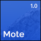 Mote - Versatile Coming Soon Template - ThemeForest Item for Sale