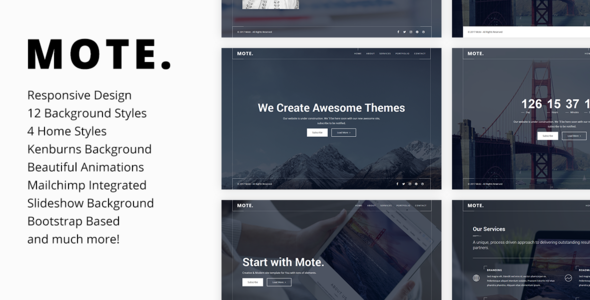 Mote – Versatile Coming Soon Template