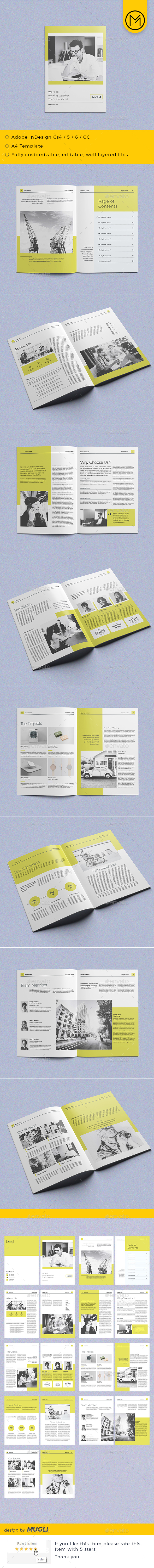 Simple & Clean Brochure - Corporate Brochures