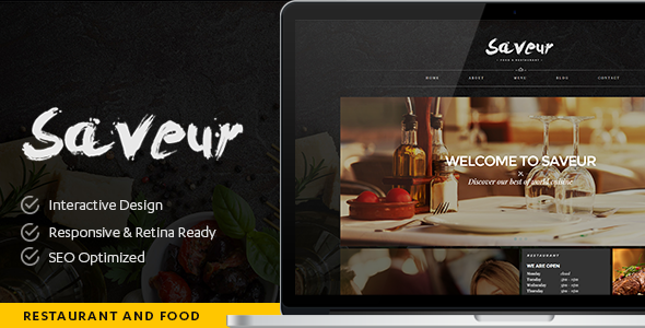 Saveur - Food & Restaurant HTML5 Template - Restaurants & Cafes Entertainment
