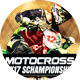 Motocross 2K17 Championships Sports Flyer