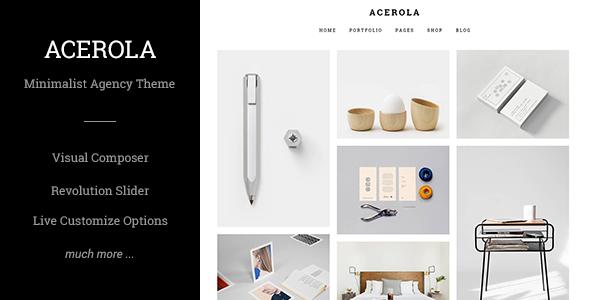 Acerola Ultra Minimalist Agency Theme