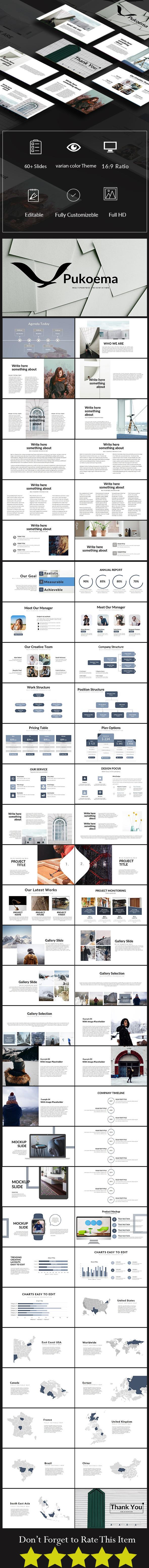 Pukoema Multipurpose Presentation Template - PowerPoint Templates Presentation Templates