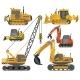 Icons Set of Construction Machinery - GraphicRiver Item for Sale