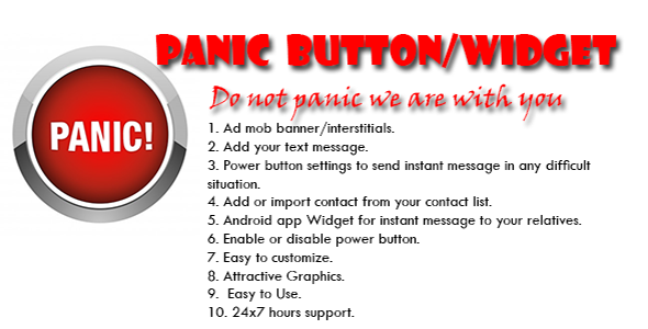 Panic Android Application And Widget - CodeCanyon Item for Sale