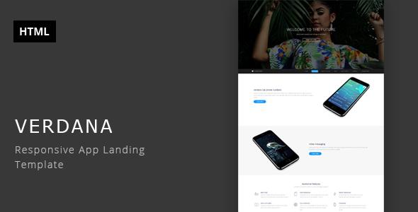 Verdana – Responsive App Landing Template