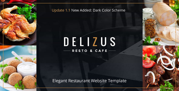 Restaurant Website Template - Delizus - Restaurants & Cafes Entertainment
