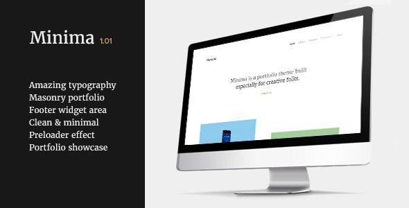 Minima - Clean & Minimal Portfolio Theme - Portfolio Creative