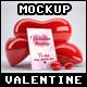 2 Valentine Hearts Mock ups - GraphicRiver Item for Sale