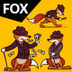 Set of Fox Characters - GraphicRiver Item for Sale