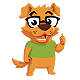 Geek Dog - Dog Mascot Logo - GraphicRiver Item for Sale