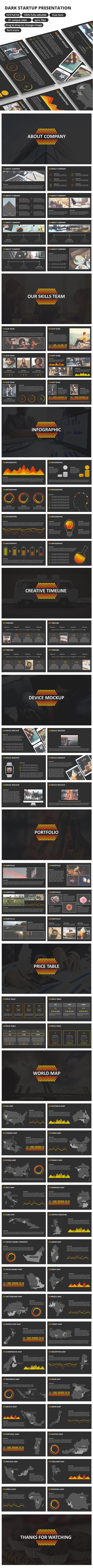 Dark StartUp - PowerPoint Presentation - Business PowerPoint Templates
