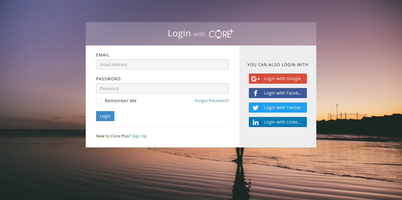Core Plus - Laravel Admin template + spark skin
