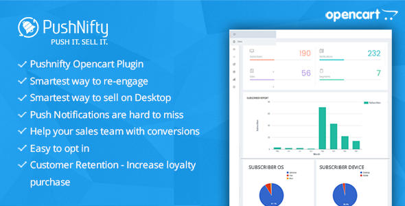 Pushnifty – Push Notification Marketing for Opencart - CodeCanyon Item for Sale