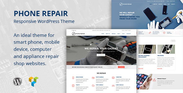 Phone Repair – Mobile, Cell Phone and Computer Repair WordPress Theme