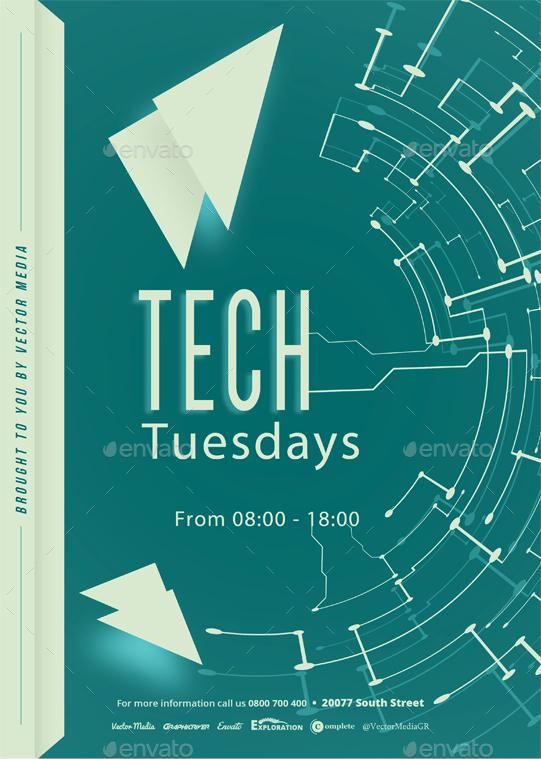 Tech Flyer By Vectormedia Graphicriver