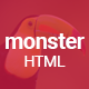 Monster Creative HTML Template - ThemeForest Item for Sale