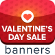 Valentine's Day Sale Ad Banners - GraphicRiver Item for Sale