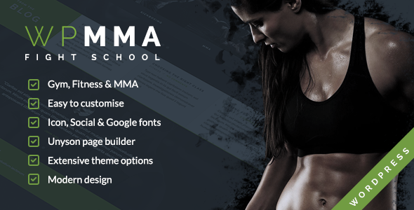 WP MMA - Gym & Fitness WordPress Theme - Creative WordPress
