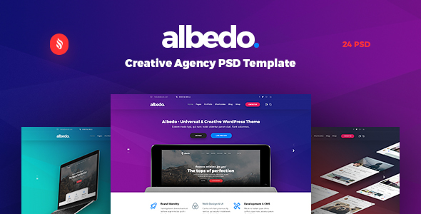 Albedo – Creative Agency PSD Template