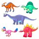 Group of Funny Dinosaurs - GraphicRiver Item for Sale
