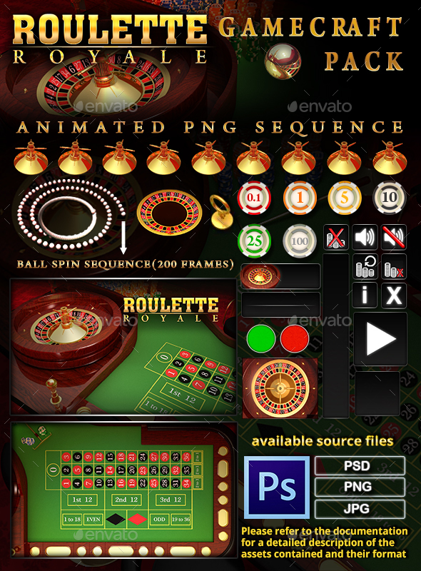 Roulette Royale Game Assets - Game Kits Game Assets