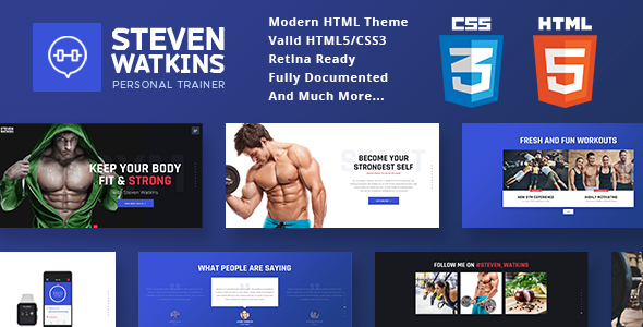 Personal Gym Trainer & Nutrition Coach Site Template - Health & Beauty Retail