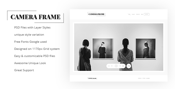 Camera Frame PSD Templates
