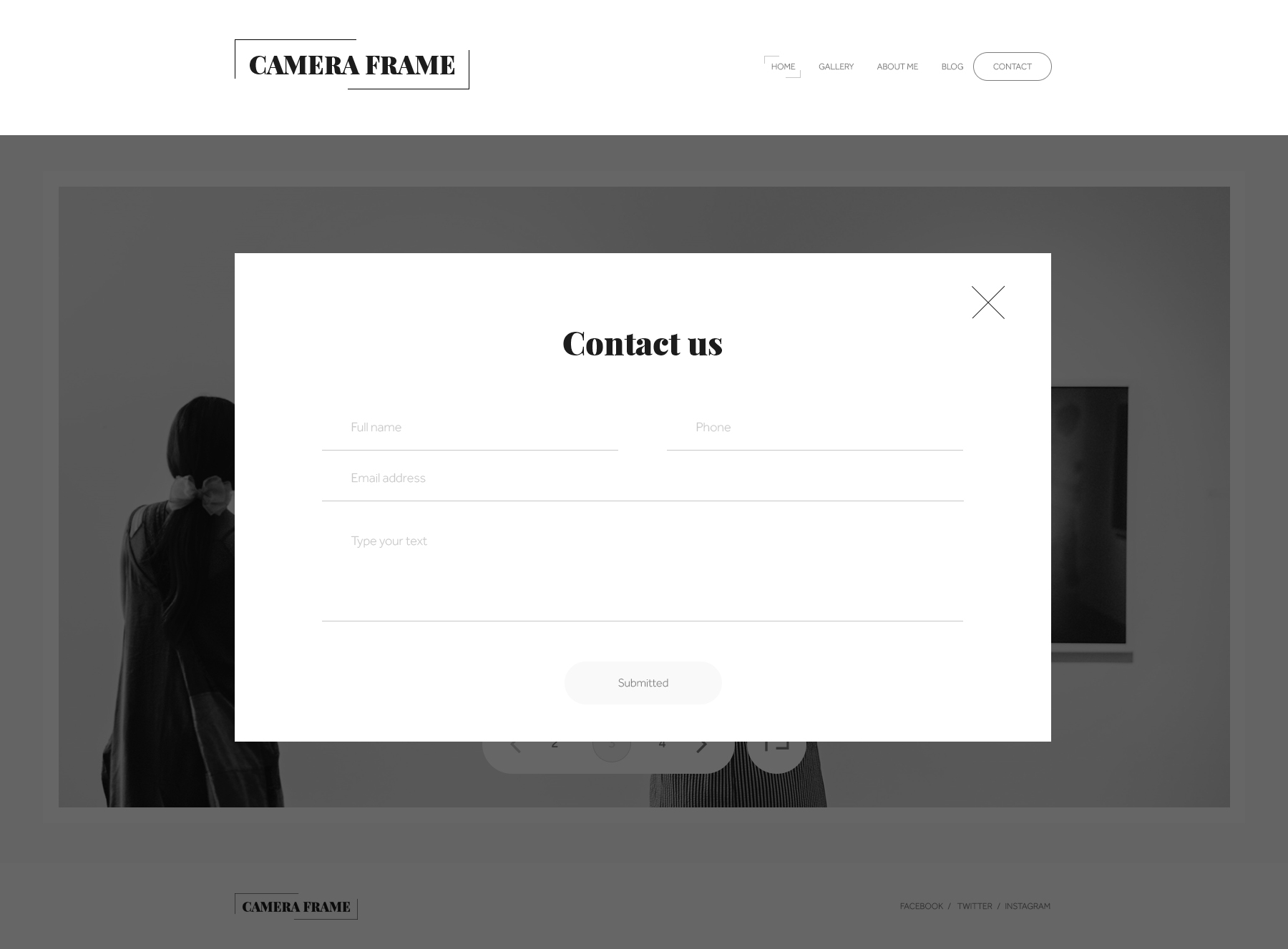 Camera Frame PSD Templates by graphicalark | ThemeForest