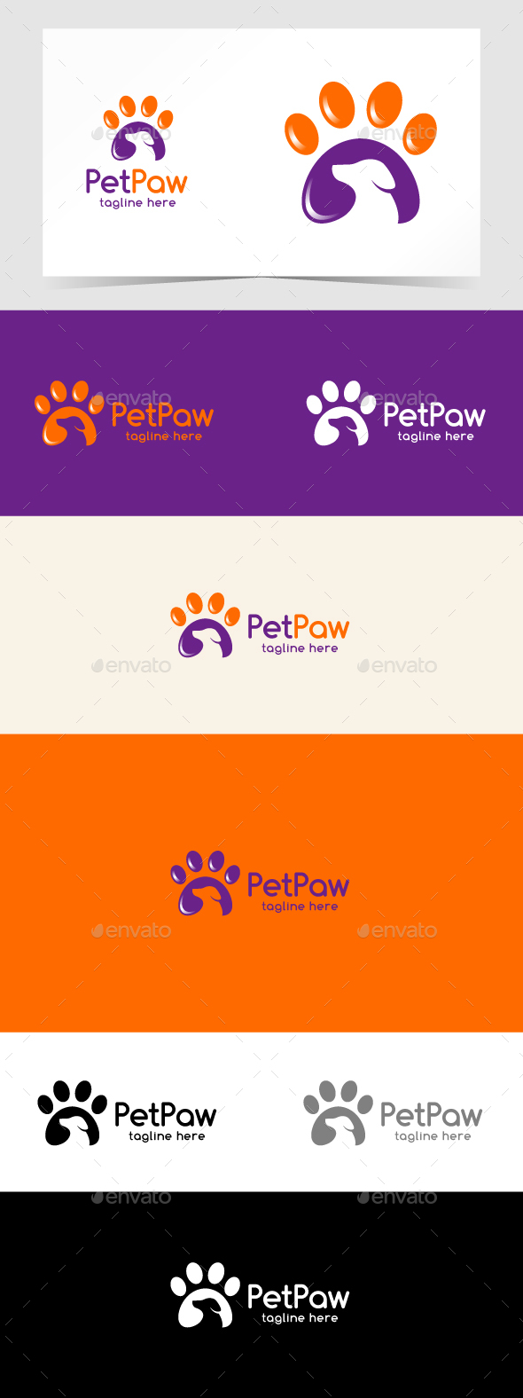 pet paw logo template by emotions76 graphicriver