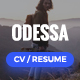 Odessa - Personal Resume, CV, VCard WordPress Theme Nulled