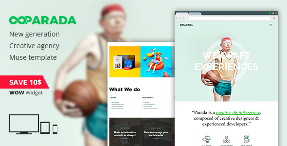 Parada | Creative Agency Muse Template