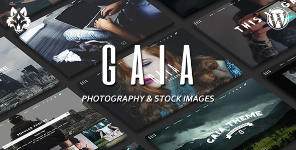 Gaïa – Photography and Stock Images WordPress Theme