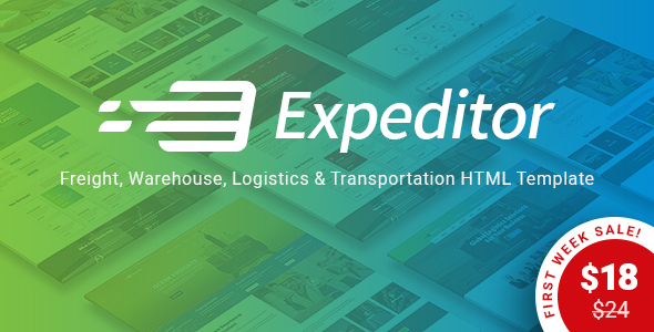 Expeditor – Freight, Logistics, Warehouse & Transportation HTML Template