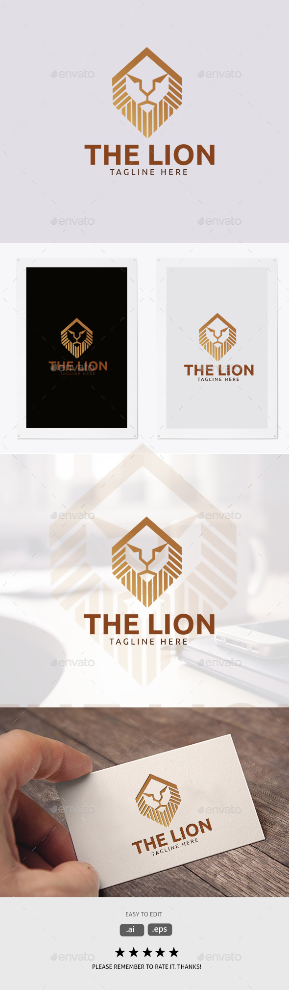 The Lion - Animals Logo Templates
