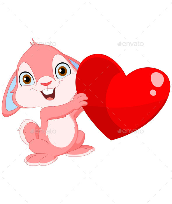 Cute Bunny Valentine - Valentines Seasons/Holidays