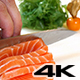 Sushi Chef Slices a Salmon Steak Nigiri Style - VideoHive Item for Sale
