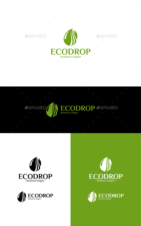 Eco Drop - Nature Logo Templates
