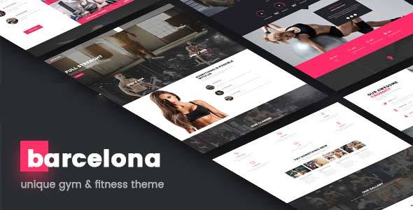 Barcelona – Gym & Fitness WordPress Theme