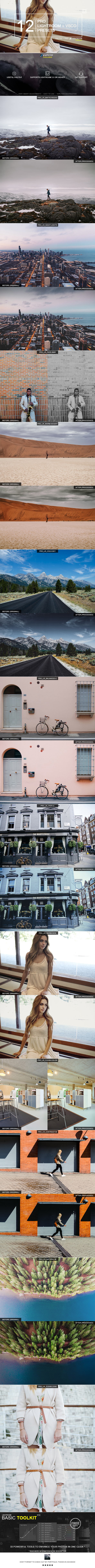 12 Pro Lightroom + VSCO Presets - Film Lightroom Presets