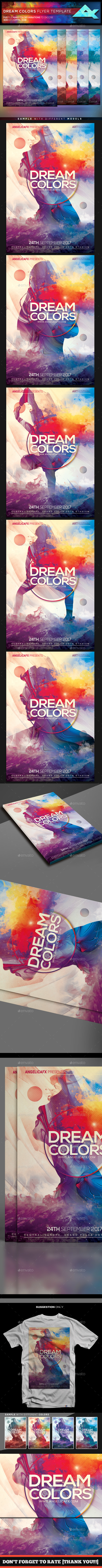 Dream Colors Flyer Template - Events Flyers