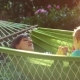 Happy Mother and Her Two Years Old Baby Boy Lying in Hammock - VideoHive Item for Sale